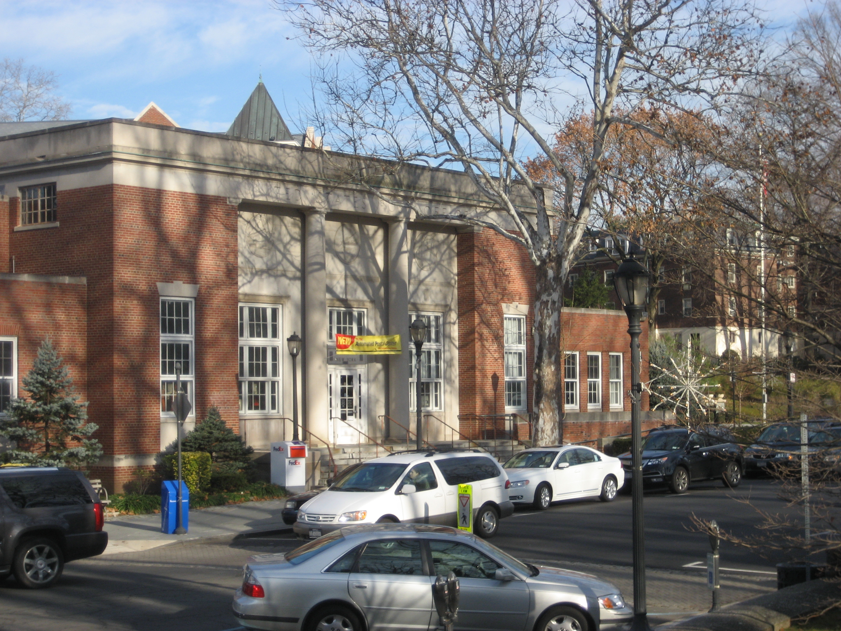 A View Of Downtown Scarsdale And The Post Office